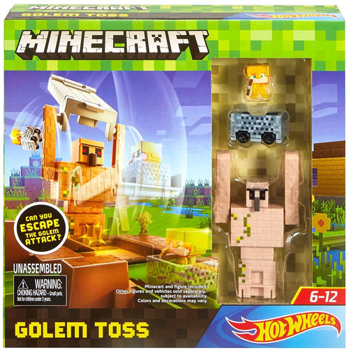 Minecraft Hot Wheels Golem Toss Track Set