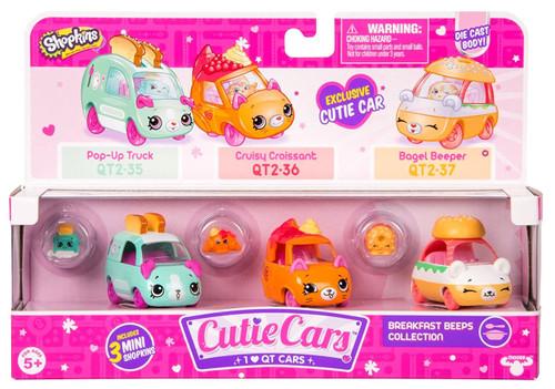 Shopkins Cutie Cars Breakfast Beeps Figure 3-Pack #35, 36 & 37 [Pop-Up Truck, Cruisy Croissant, Bagel Beeper]
