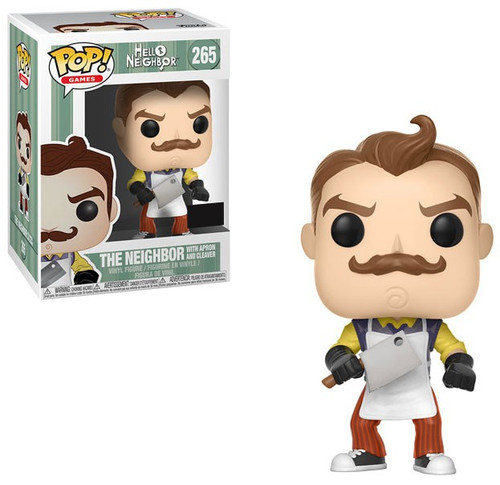 Funko Hello Neighbor POP! Games The Neighbor with Apron & Cleaver Exclusive Vinyl Figure #265