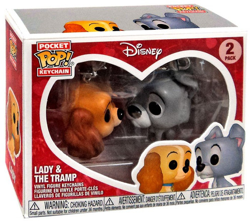 Funko POP! Disney Lady & The Tramp Exclusive Keychain 2-Pack [Ever After Castle]