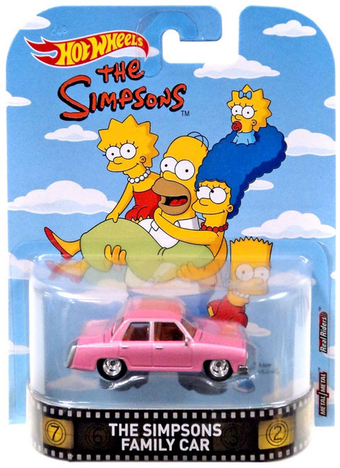 Hot Wheels HW Retro Entertainment The Simpsons Family Car Diecast Car
