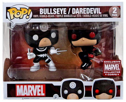 Funko POP! Marvel Bullseye & Daredevil Exclusive Vinyl Bobble Head 2-Pack [Damaged Package]