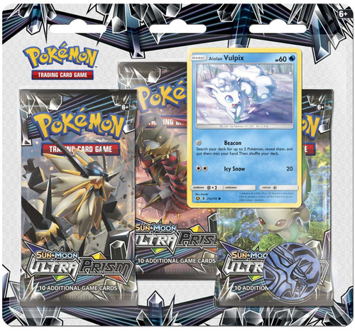 Pokemon Trading Card Game Sun & Moon Ultra Prism Vulpix Special Edition [3 Booster Packs, Promo Card & Coin]