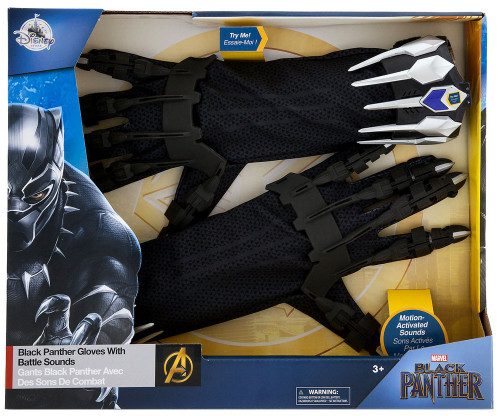Disney Marvel Black Panther Gloves with Battle Sounds Exclusive Roleplay Set [2018]
