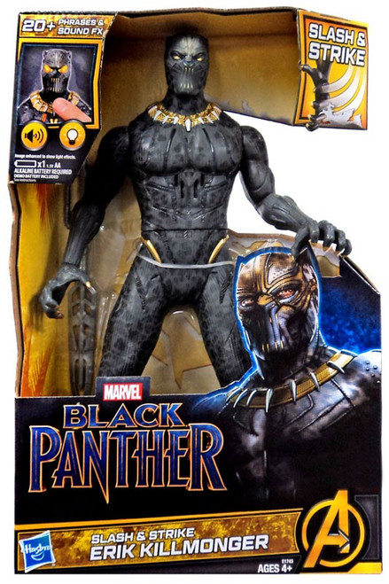 Marvel Black Panther Slash & Strike Erik Killmonger Exclusive 13-Inch Figure