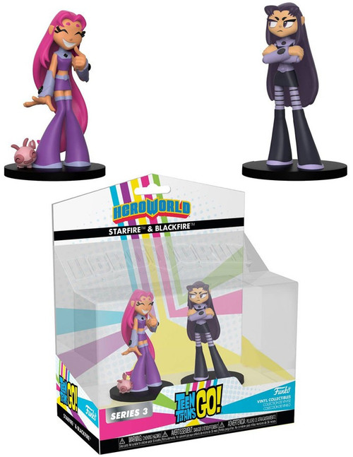 Funko DC Teen Titans Go! Hero World Series 3 Starfire & Blackfire Exclusive 4-Inch Vinyl Figure 2-Pack