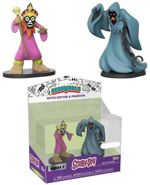 Funko Scooby Doo Hero World Series 5 Witch Doctor & Phantom Exclusive 4-Inch Vinyl Figure 2-Pack