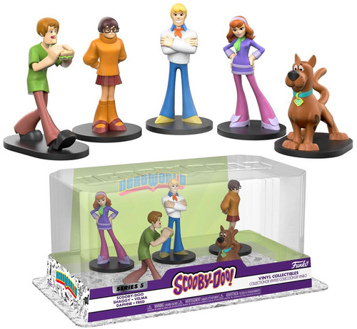 Funko Scooby Doo Hero World Series 5 Scooby-Doo, Shaggy, Velma, Daphne & Fred Exclusive 4-Inch Vinyl Figure 2-Pack