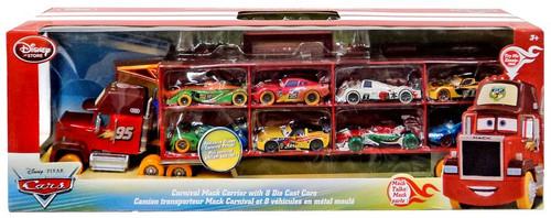 Disney / Pixar Cars Playsets Carnival Mack Carrier Exclusive Diecast Car Set