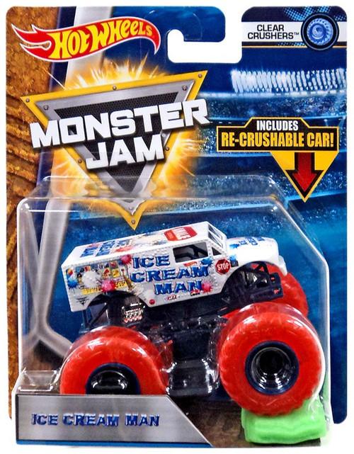 Hot Wheels Monster Jam 25 Ice Cream Man Die-Cast Car [Clear Crushers]