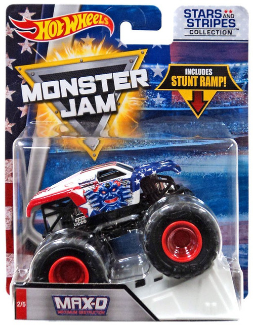 Hot Wheels Monster Jam 25 Max-D Die-Cast Car #2/5 [Stars & Stripes]