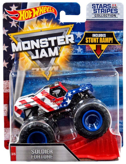 Hot Wheels Monster Jam 25 Soldier Fortune Die-Cast Car #3/5 [Stars & Stripes]