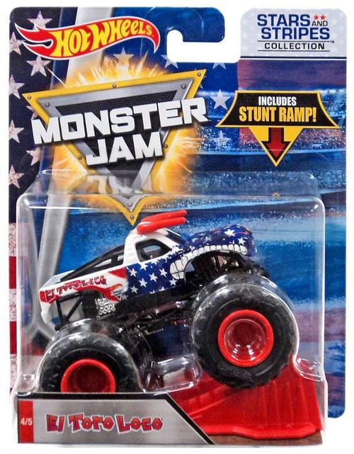 Hot Wheels Monster Jam 25 El Toro Loco Die-Cast Car #4/5 [Stars & Stripes]