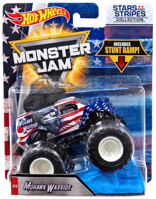Hot Wheels Monster Jam 25 Mohawk Warrior Diecast Car #5/5 [Stars & Stripes]