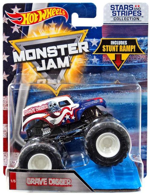 Hot Wheels Monster Jam 25 Grave Digger Diecast Car #1/5 [Stars & Stripes]
