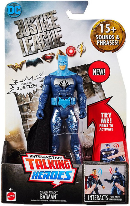DC Justice League Movie Interactive Talking Heroes Stealth Attack Batman Deluxe Action Figure