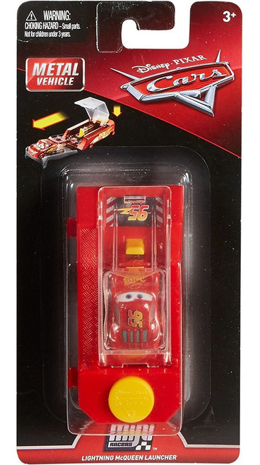 Disney / Pixar Cars Cars 3 Die Cast Mini Racers Lightning McQueen Car & Launcher
