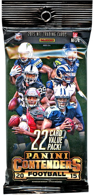 NFL Panini 2015 Contenders Football Trading Card VALUE Pack [22 Cards!]