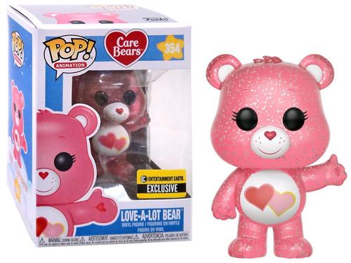 Funko Care Bears POP! Animation Love-A-Lot Bear Exclusive Vinyl Figure #354 [Glitter Version]