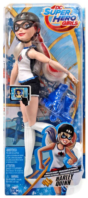 DC Super Hero Girls Roller Derby Harley Quinn 12-Inch Doll
