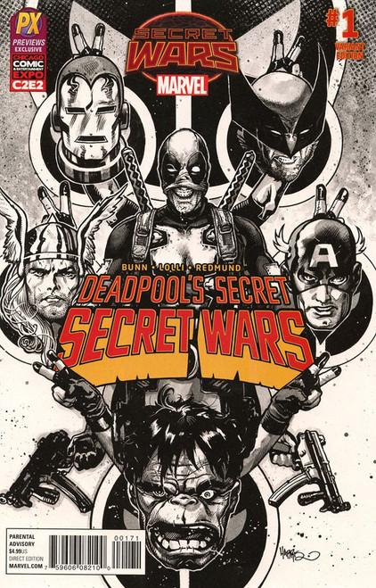 Secret Wars #1 Deadpool's Secret Exclusive Comic Book [Variant Edition]