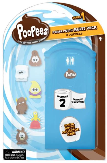 Poopeez Series 1 Porta Potty Mini Figure 6-Pack