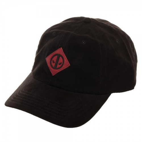 Marvel Deadpool Leather Label Suede Cap