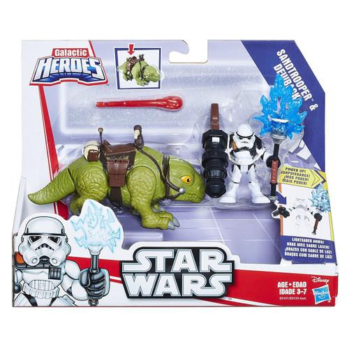 Star Wars Galactic Heroes Dewback & Sandtrooper Figure Set