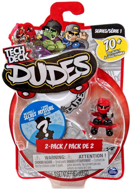Tech Deck Dudes Slicer Mini Figure 2-Pack