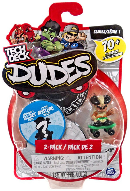 Tech Deck Dudes King Krush Mini Figure 2-Pack