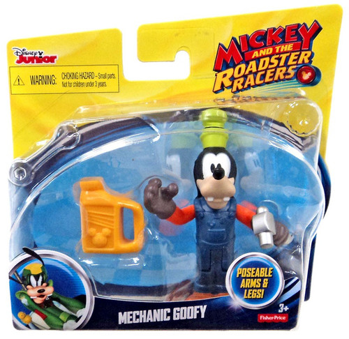 Fisher Price Disney Mickey & Roadster Racers Mechanic Goofy Action Figure [Version 2]