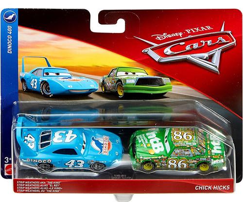 Disney / Pixar Cars Cars 3 Dinoco 400 Strip Weathers aka The King & Chick Hicks Diecast 2-Pack