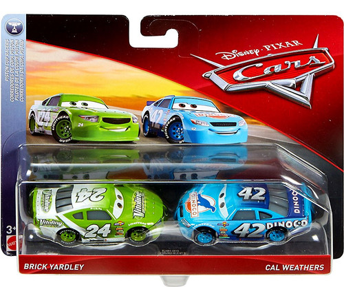 Disney / Pixar Cars Cars 3 Piston Cup Racers Brick Yardley & Cal Weathers Diecast 2-Pack [Vitoline & Dinoco]