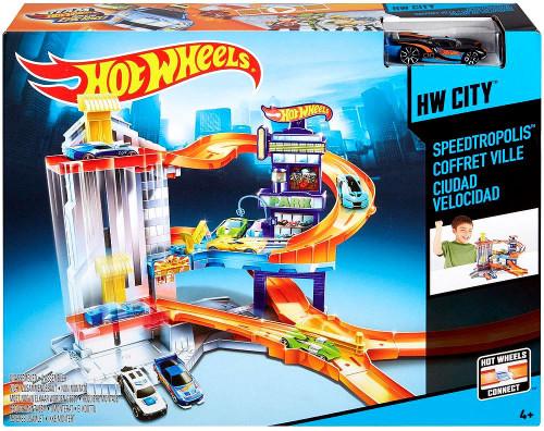 Hot Wheels Speedtropolis Die-Cast Car Playset [Includes 1 Car]