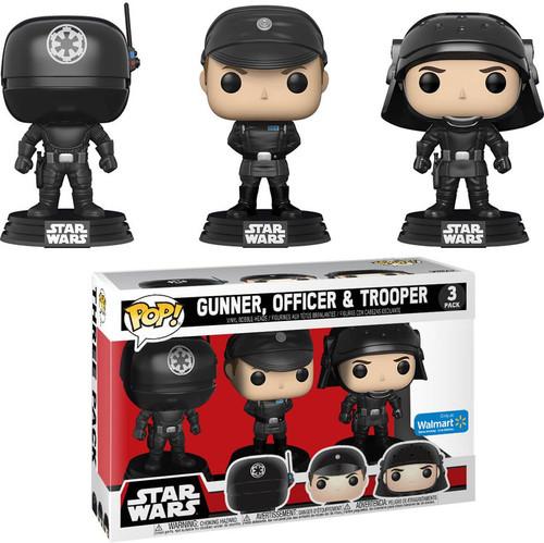 Funko POP! Star Wars Gunner, Officer & Trooper Exclusive Vinyl Bobble Head 3-Pack