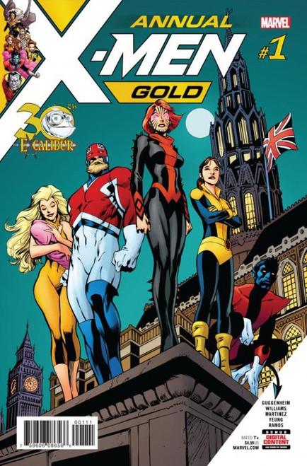 Marvel Comics X-Men: Gold Annual #1 30th Excalibur Comic Book