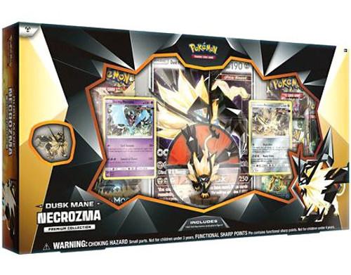 Pokemon Trading Card Game Dusk Mane Necrozma Premium Collection [5 Booster Packs, Promo Card, Oversize Card, Figure & Pin!]