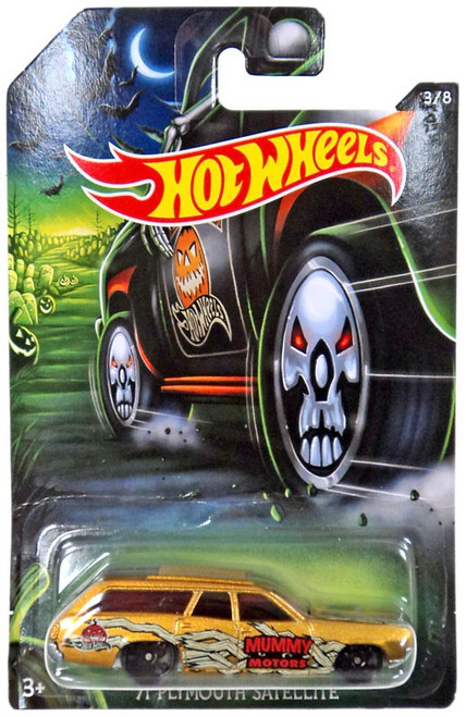 Hot Wheels Happy Halloween! '71 Plymouth Satellite Diecast Car #3/8