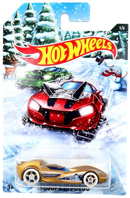 Hot Wheels 2017 Holiday Hot Rods Scoopa Di Fuego Die-Cast Car #1/6