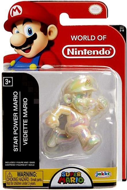 World of Nintendo Super Mario Wave 21 Star Power Mario 2.5-Inch Mini Figure