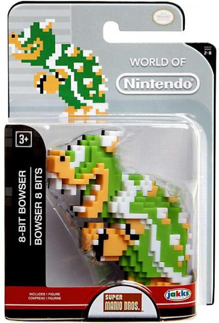 World of Nintendo Super Mario 8-Bit Bowser 2.5-Inch Mini Figure