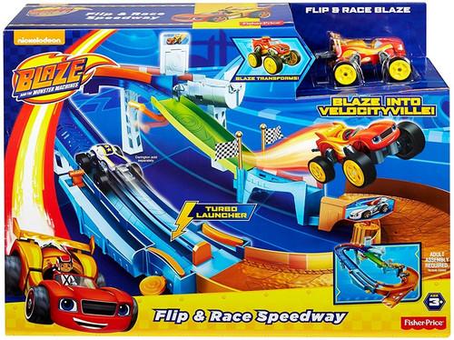Fisher Price Blaze & the Monster Machines Flip & Race Speedway Playset