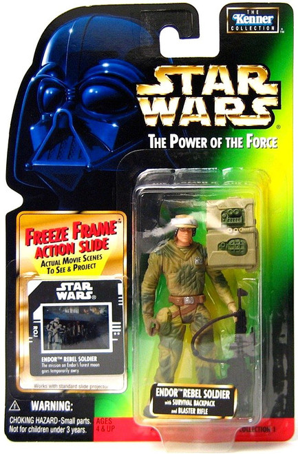 Star Wars Return of the Jedi Power of the Force POTF2 Kenner Collection Endor Rebel Soldier Action Figure