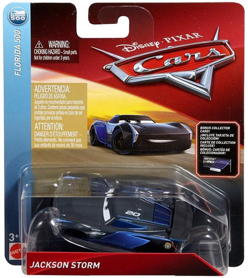 Disney / Pixar Cars Cars 3 Florida 500 Jackson Storm Diecast Car [Bonus Collector Card]