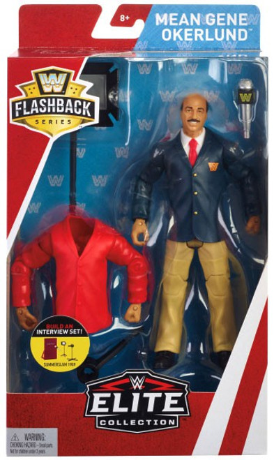WWE Wrestling Elite Collection Flashback Mean Gene Okerlund Exclusive Action Figure