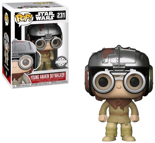 Funko POP! Star Wars Young Anakin Skywalker Exclusive Vinyl Bobble Head #231 [231]