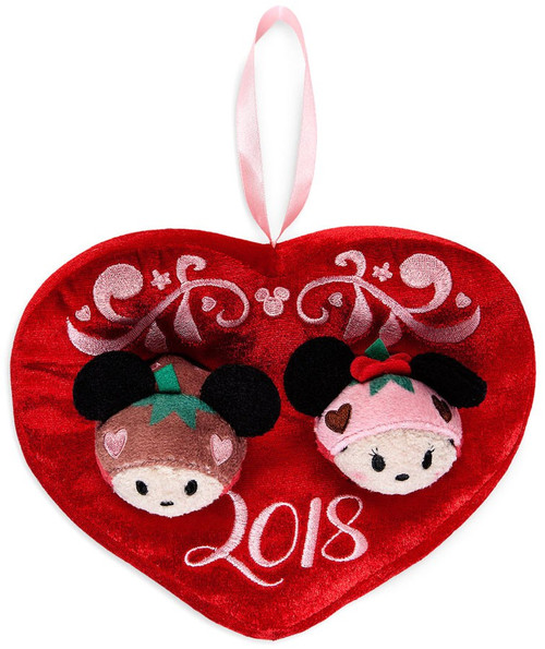 Disney Tsum Tsum 2018 Valentine's Day Mickey & Minnie Mouse Exclusive 3.5-Inch Mini Plush 2-Pack [Scented]
