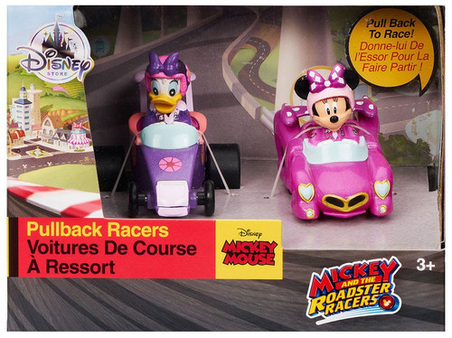 Disney Mickey & Roadster Racers Daisy & Minnie Exclusive Pullback Racer
