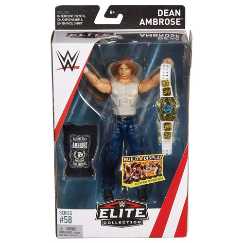 WWE Wrestling Elite Collection Series 58 Dean Ambrose Action Figure [Intercontinental Championship & Entrance Shirt]