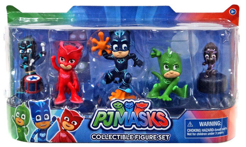 Disney Junior PJ Masks Ninjalino, Gekko, Catboy, Owlette & Night Ninja Figure 5-Pack